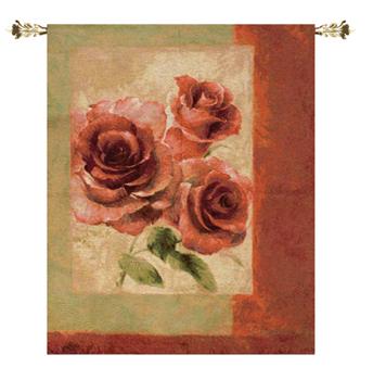 Damask Rose Fine Art Tapestry