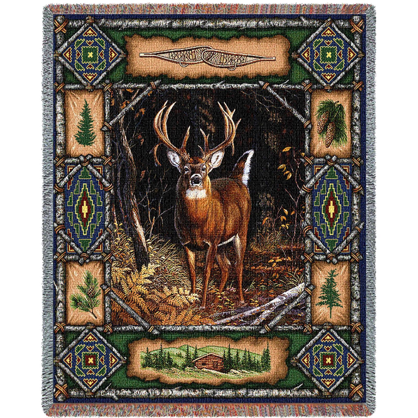 Deer Lodge (lodge) Tapestry Throw