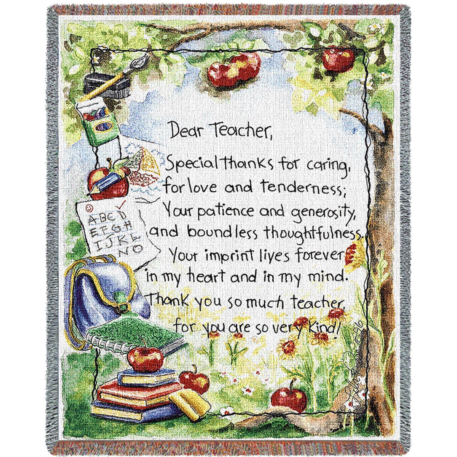 Dear Teacher (professions) Tapestry Throw