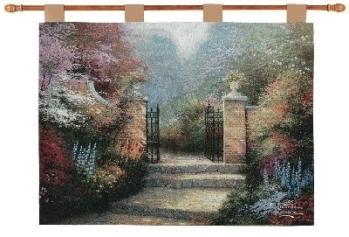 Victorian Garden - Thomas Kinkade Fine Art Tapestry
