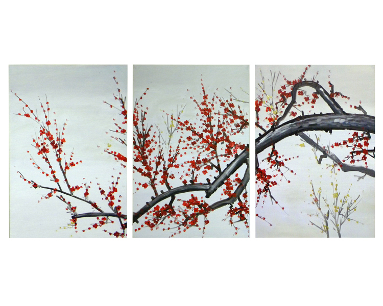 Arboreal Blossoms Canvas Wall Art Painting