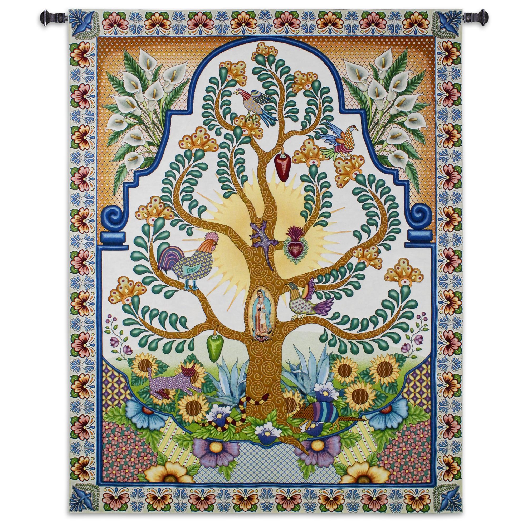 Arboles De La Vida Tapestry Wall Hanging
