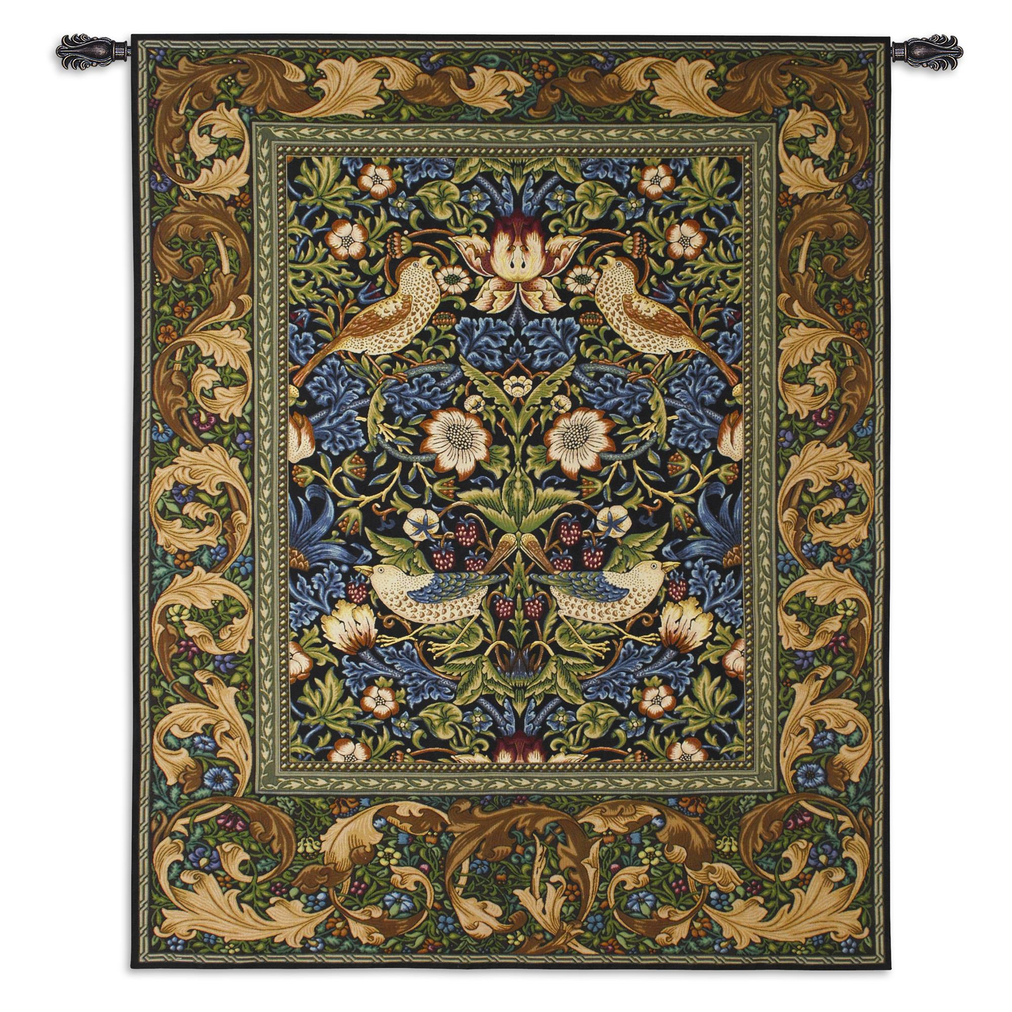 William Morris's Strawberry Thief Tapestry Wall Hanging