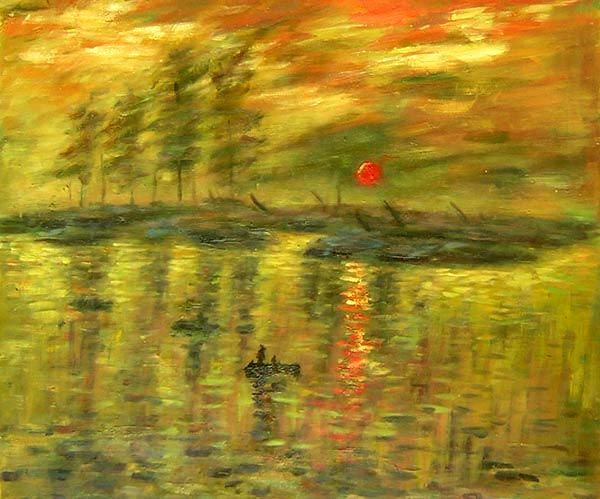 Impression, Sunrise Canvas Wall Art