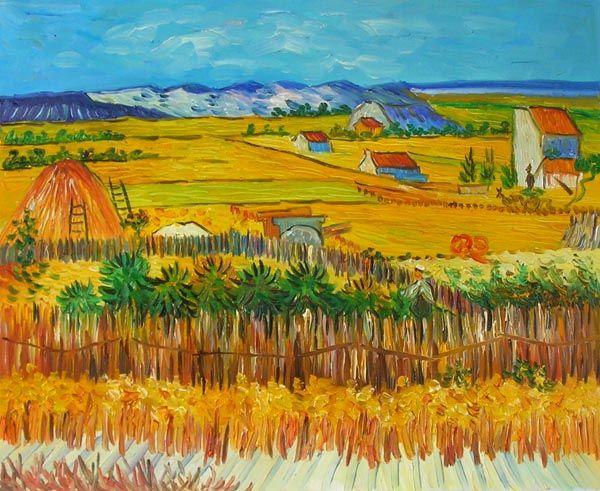 Van Gogh's The Harvest Canvas Wall Art