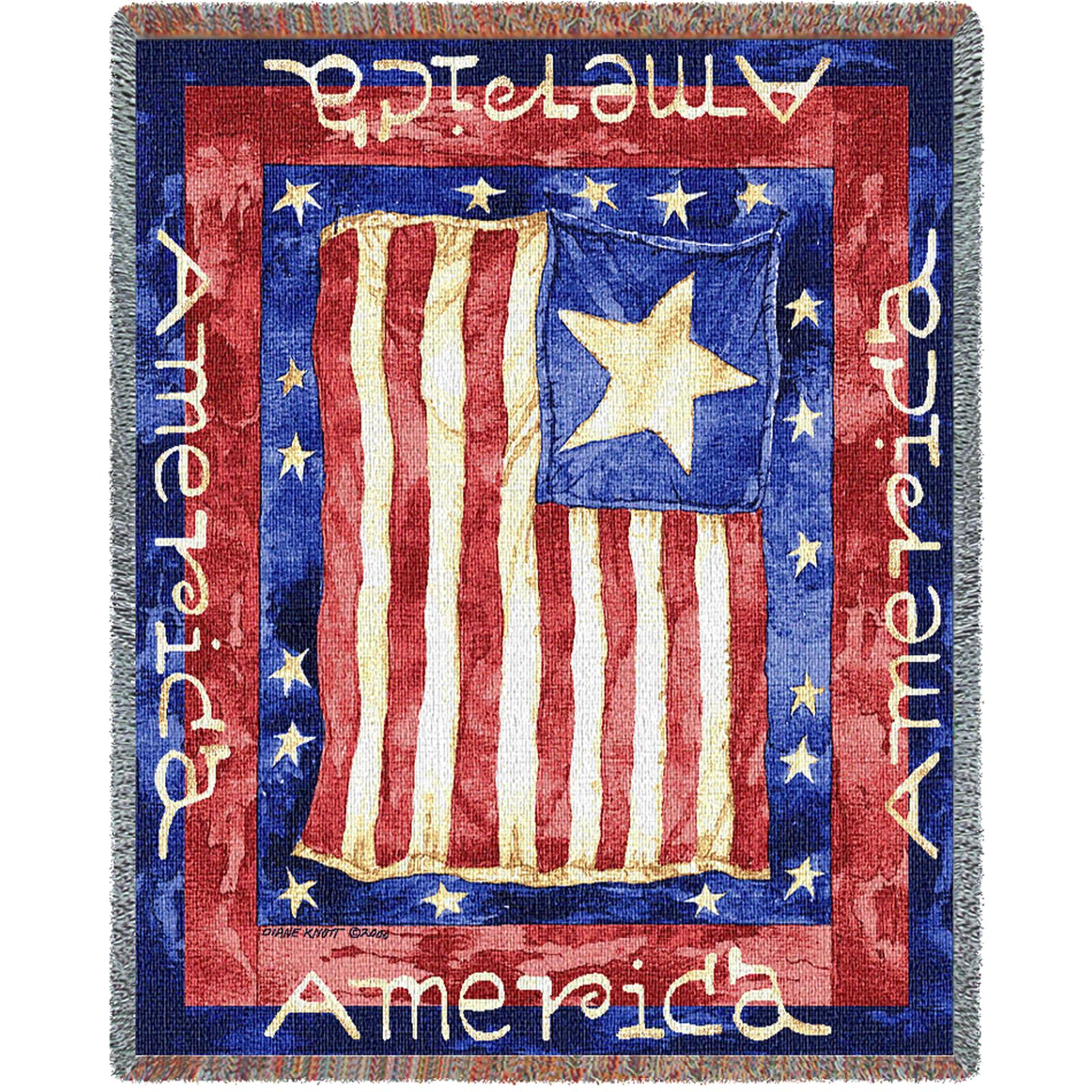 Old Glory Tapestry Throw