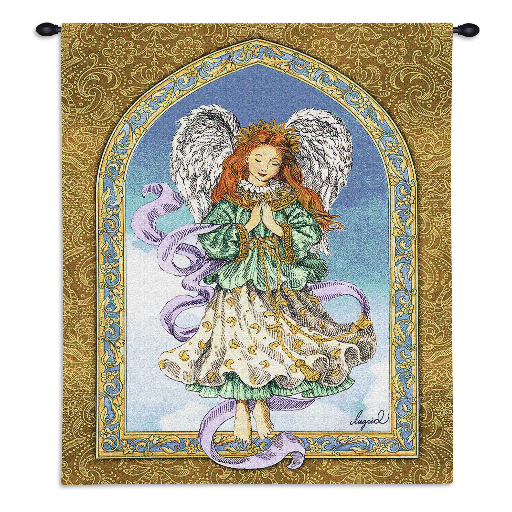 Angel In Prayer Tapestry Wall Hanging