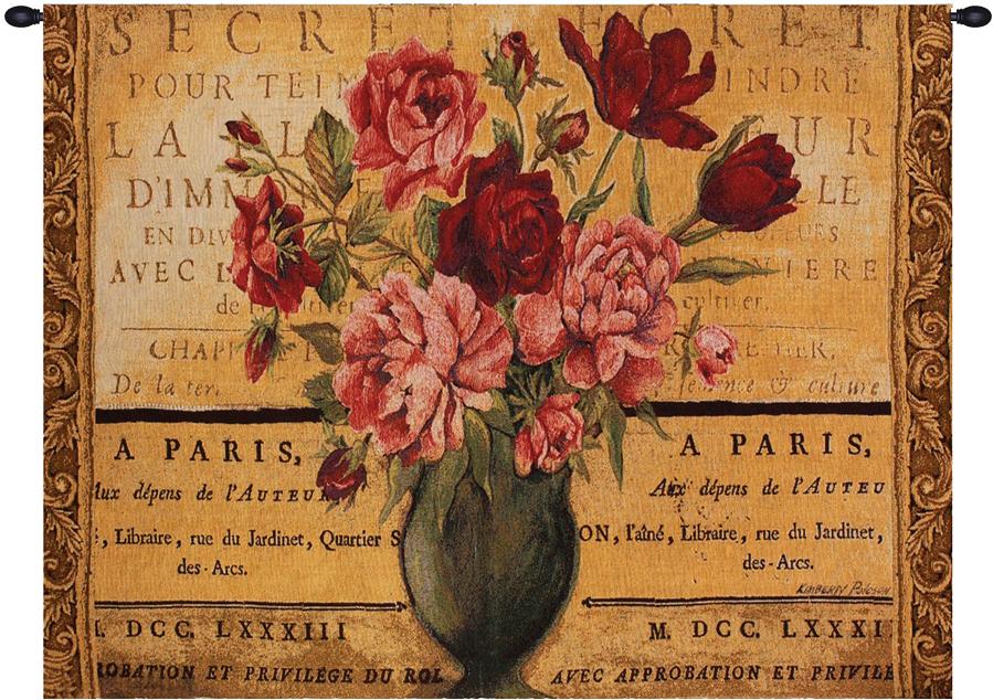 Paris Rose Fine Art Tapestry