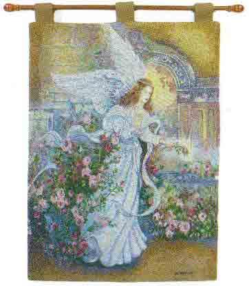 Angel Of Love Fine Art Tapestry