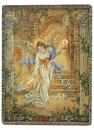 Angel Of Light I Tapestry Throw