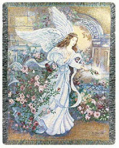 Angel Of Love I Tapestry Throw