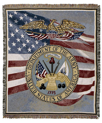 U.S. Army  Tapestry Throw