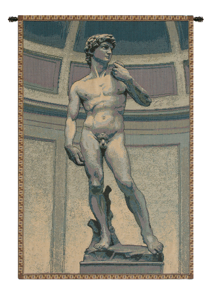 Statue of David Italian Tapestry Wallhanging