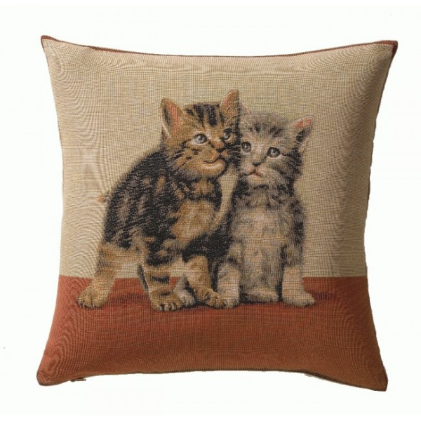 2 Kittens 1 French Tapestry Cushion