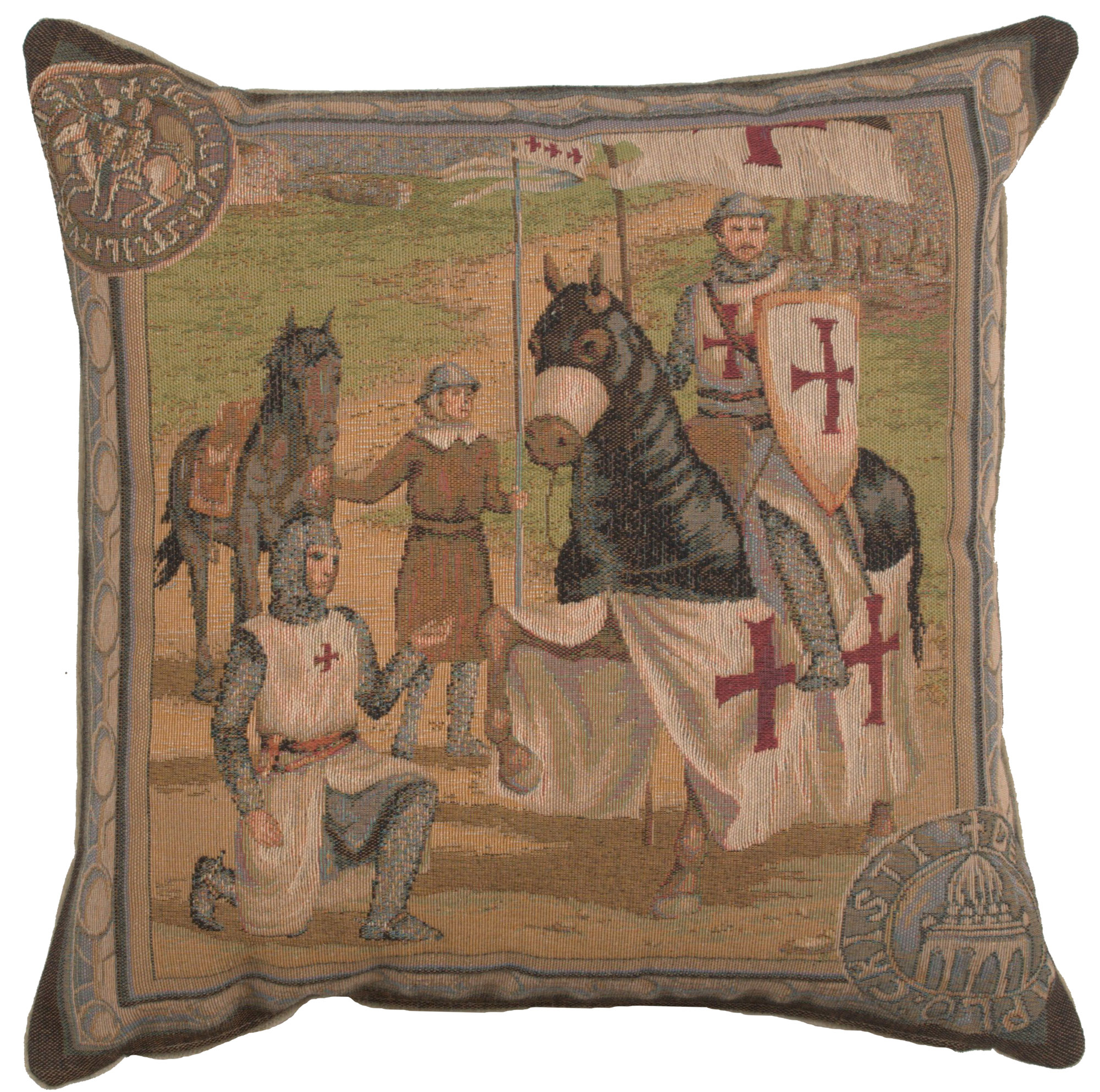 Templar's 1 French Tapestry Cushion Pillow Cover Fine Art Home Decor Classical