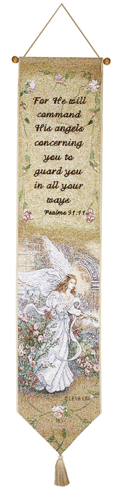 Angel Of Love W/verse Bell Pull Tapestry Bell Pull