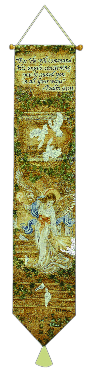 Angel Of Light W/verse Bell Pull Tapestry Bell Pull