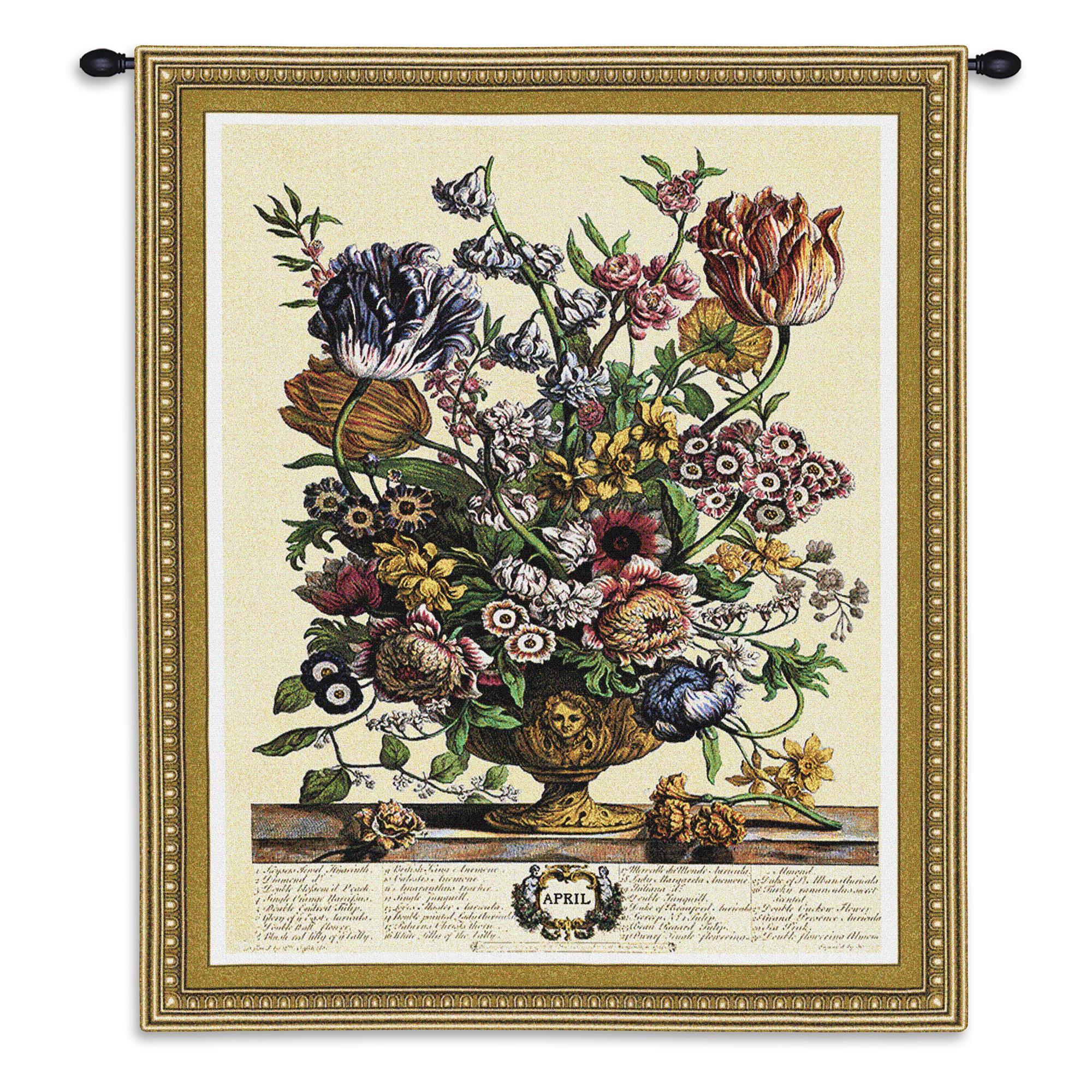 April Botanical Tapestry Wall Hanging